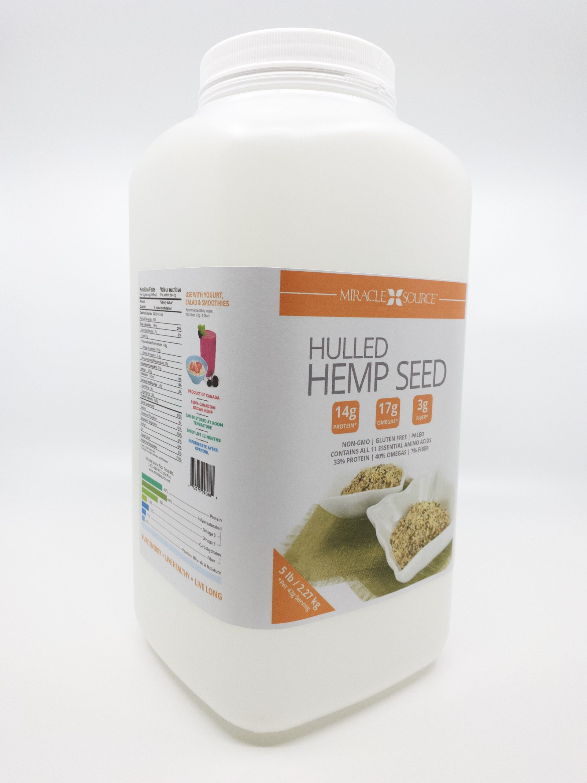 NATURAL HULLED HEMP SEED – 20 LB BULK